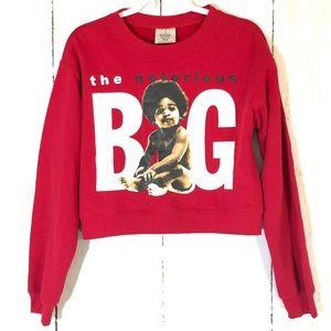 Notorious BIG Biggie Smalls Baby Crop Sweatshirt